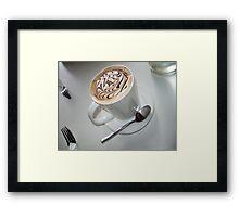 Coffee Coloured Framed Print