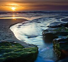 Sunset - Trebarwith Strand by David Wilkins