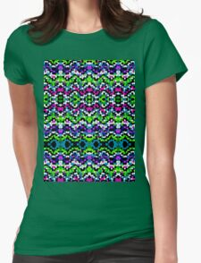 Aztec Mosaic Texture Womens Fitted T-Shirt