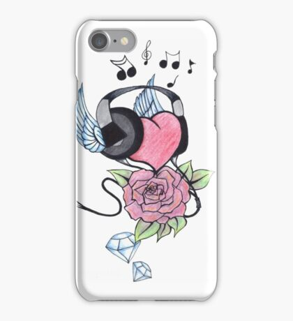 musical heart iPhone Case/Skin