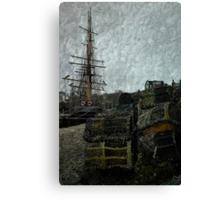 Pots, Masts & Rigging Canvas Print