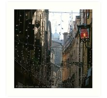 You Are Here - Venice in Christmas time Art Print