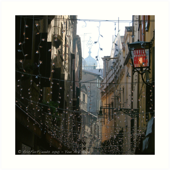 You Are Here - Venice in Christmas time by Eric Strijbos