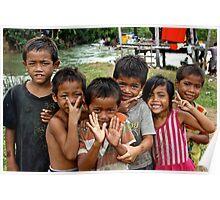 Adorables Kids - Thakhek, Laos. Poster