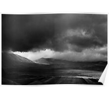 storm clouds over the Piano Grande, Umbria, Italy Poster