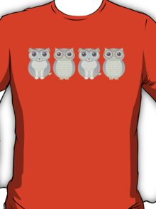 Double Dogs and Owls Blue T-Shirt