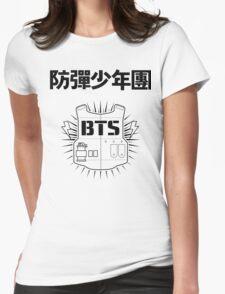 BTS Hanja/Vest - Black Womens Fitted T-Shirt