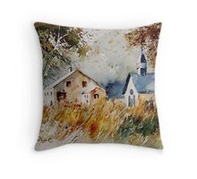 old chapel in herhet Throw Pillow
