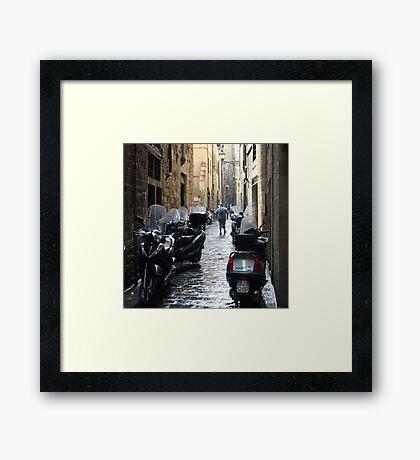 Subito! - Florence, Italy Framed Print
