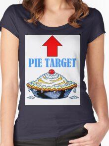 PIE TARGET shirt Women's Fitted Scoop T-Shirt