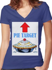 PIE TARGET shirt Women's Fitted V-Neck T-Shirt