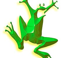 GREEN FROG, Jumping Jehoshaphat! Help! its the Green frog! by TOM HILL - Designer