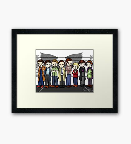 SuperWhoLock Lineup Framed Print