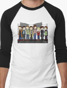 SuperWhoLock Lineup Men's Baseball ¾ T-Shirt