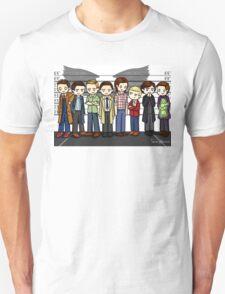 SuperWhoLock Lineup Unisex T-Shirt