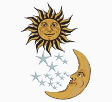 Sun, Moon & Stars, on Midnight Blue, have it all. Dreams, Desire Kids Clothes
