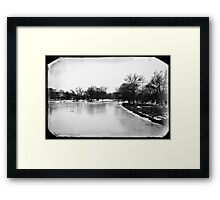 Ice on Sunset Lake Framed Print