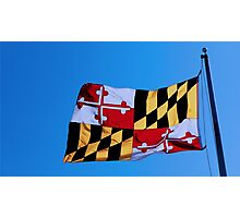 Maryland State Flag Photographic Print