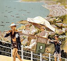 See Hong Kong the Riviera of the Orient Vintage Poster by Carsten Reisinger