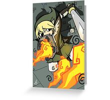 Fire Ball Frenzy Greeting Card