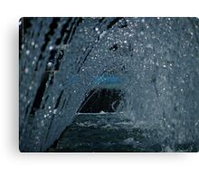 Water tunnel Canvas Print