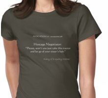 Guilty Mother's thought for the day #3  Womens Fitted T-Shirt