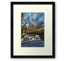Porsche Boxster on the move Framed Print