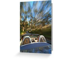 Porsche Boxster on the move Greeting Card