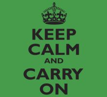 KEEP CALM & CARRY ON, BE BRITISH, BLIGHTY, UK, WWII, PROPAGANDA, IN BLACK Kids Clothes
