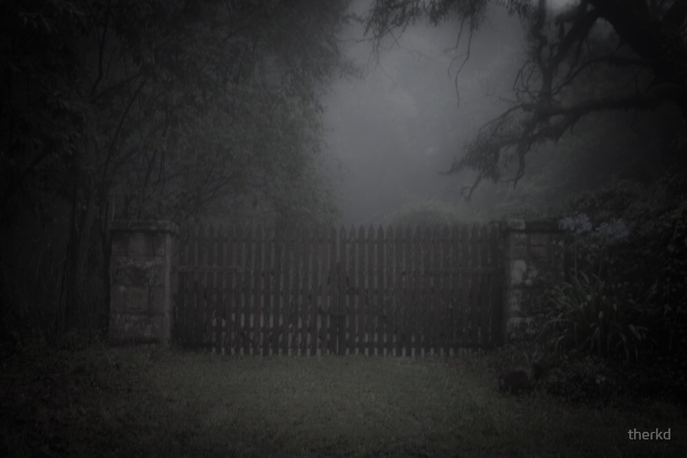 Creepy gate to Silent Hill by therkd