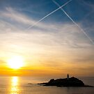 Godrevy Lighthouse Flightplan by Simon Marsden