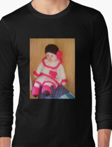 Doll with pink socks Long Sleeve T-Shirt