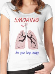 Smoking... Women's Fitted Scoop T-Shirt