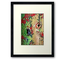 Keyhole colours Framed Print
