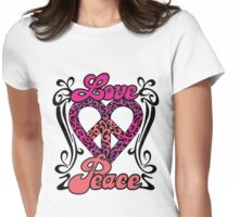 Love Peace Heart Womens Fitted T-Shirt