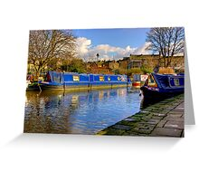 The Blue Barge - Skipton. Greeting Card