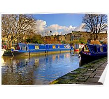 The Blue Barge - Skipton. Poster