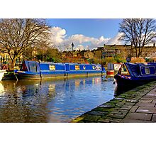 The Blue Barge - Skipton. Photographic Print