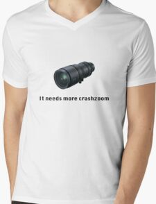 Crashzoom! It needs more! Mens V-Neck T-Shirt