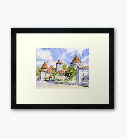 Le Vieux Château, Varaignes Framed Print