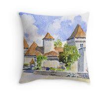 Le Vieux Château, Varaignes Throw Pillow