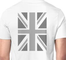 BRITISH, UNION JACK, FLAG, BLIGHTY, PORTRAIT, IN GREY, UK ENGLAND Unisex T-Shirt