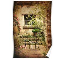 Courtyard Garden at Montsalvat Poster
