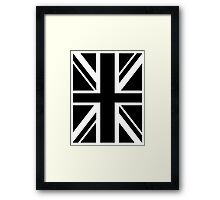 BRITISH, UNION JACK, FLAG, UK, UNITED KINGDOM, IN BLACK Framed Print