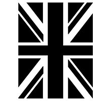 BRITISH, UNION JACK, FLAG, UK, UNITED KINGDOM, IN BLACK Photographic Print