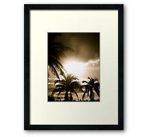 Island Wake Up (Sepia) Framed Print