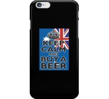 AUSTRAILIA, AUSTRALIAN, KEEP CALM & BUY A BEER, AUSSIE, on Black iPhone Case/Skin