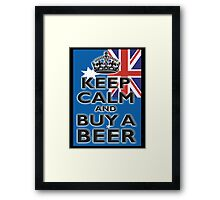 AUSTRAILIA, AUSTRALIAN, KEEP CALM & BUY A BEER, AUSSIE, on Black Framed Print