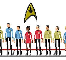 Star Trek: The Original Series - Pixelart crew by explosivebarrel