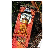 the last drop, abandoned petrol pump, Saltmills, County Wexford, Ireland Poster